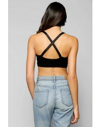 Urban Outfitters - Black Out From Under Crossback Suspender Bra Top - Lyst