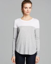 Vince - Gray Tee Color Block - Lyst