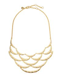 Alexis Bittar | Metallic Crystal-Studded Scalloped Bib Necklace | Lyst