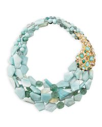 Alexis Bittar | Blue Kiwi Cluster Multistrand Necklace | Lyst