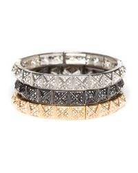 BaubleBar - Metallic Pave Pyramid Bangle - Lyst