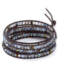 Chan Luu | Gray Five Wrap Blue Shade Bracelet | Lyst