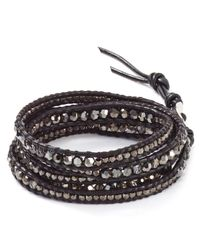 Chan Luu | Metallic Five Wrap Silver Night Bracelet | Lyst