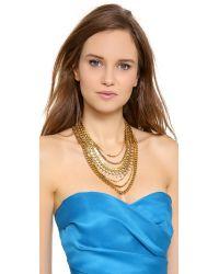 Erickson Beamon - Metallic Velocity Collar Necklace Gold - Lyst