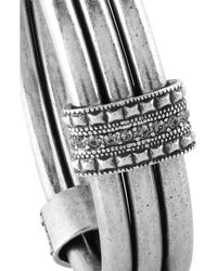 Giles & Brother - Metallic Czar Silverplated Crystal Bangle - Lyst