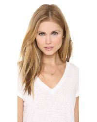 Jennifer Zeuner | Pink Horizontal Small Horn Necklace | Lyst