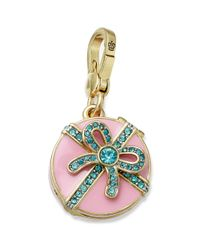 Juicy Couture - Pink Goldtone Crystal Accent Box Of Chocolates Locket Charm - Lyst