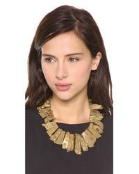 Kenneth Jay Lane - Metallic Graduated Stick Agate Necklace - Bronze - Lyst