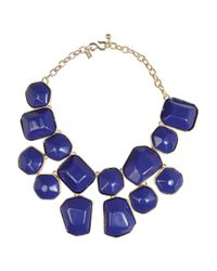 Kenneth Jay Lane - Blue Goldplated Resin Necklace - Lyst