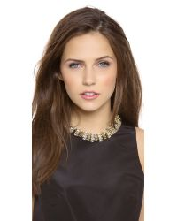 Lee Angel - Metallic Crystal Navette Statement Necklace - Lyst