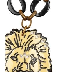 Lulu Frost - Metallic Goldtone Crystal and Resin Lion Necklace - Lyst