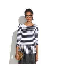 Madewell - White Stripeturn Ponte Top - Lyst