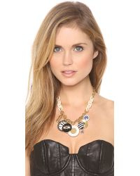Marc By Marc Jacobs - Black Dynamite Charm Necklace - Lyst