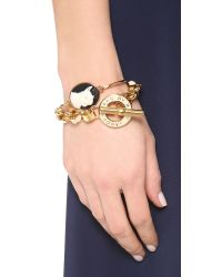 Marc By Marc Jacobs - Natural Olive Cameo Hinge Cuff Bracelet - Lyst