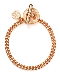 Marc By Marc Jacobs | Metallic Mini Toggle Bracelet | Lyst