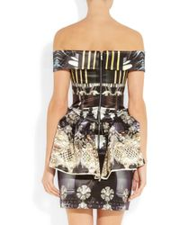 Mary Katrantzou - Multicolor Nebraska Printed Silk-blend Satin Dress - Lyst