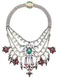 Mawi | Metallic Tiered Crystal Necklae | Lyst