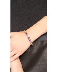 Michael Kors - Metallic Baguette Astor Bangle Bracelet - Lyst