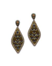 Miguel Ases - Multicolor Beaded Statement Earrings - Lyst