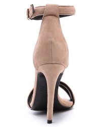 Nicholas - Gray Jocelyn Suede Sandals  Seashell - Lyst