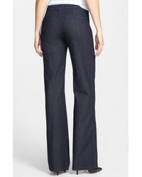 NYDJ | Blue Flipia Stretch Denim Trouser Jeans | Lyst