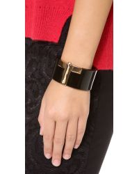 Tory Burch - Black Modern T Resin Cuff - Lyst