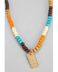 Urban Outfitters - Metallic Rust Regret Beaded Necklace - Lyst