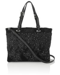 Valentino | Black Lace Print Bag | Lyst