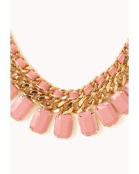 Forever 21 - Metallic Sweet Side Curb Chain Bib You've Been Added To The Waitlist - Lyst