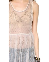 Free People | Natural Embellished Slip | Lyst