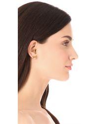 kate spade new york - Metallic Skinny Mini Rope Stud Earrings - Lyst