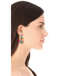 kate spade new york - Multicolor Chandelier Earrings - Lyst