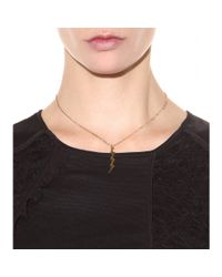 Marc By Marc Jacobs - Metallic Lightning Bolt Necklace - Lyst