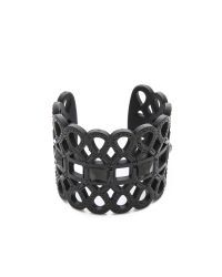 Tory Burch | Black Embellished Lace Cuff Bracelet | Lyst