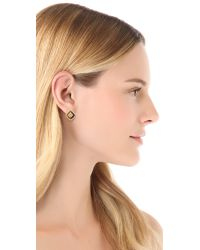 Tory Burch | Mccoy Pave Stud Earrings | Lyst
