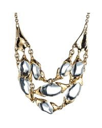 Alexis Bittar   Metallic Three Strand Liquid Pebble Necklace   Lyst