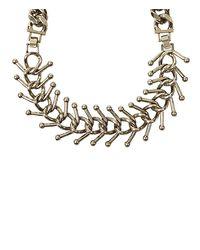 AllSaints - Metallic Medulla Necklace - Lyst
