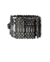 AllSaints - Black Amniote Bracelet - Lyst