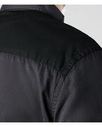 AllSaints - Black Redondo Long Sleeve Shirt for Men - Lyst