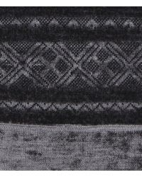 AllSaints - Gray Helvellyn Scarf for Men - Lyst