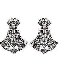 Ben-Amun | Metallic Gunmetal Chandelier Earrings | Lyst