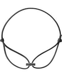 Georg Jensen - Metallic Magic 18ct White Gold And Black Diamond Bracelet - Lyst