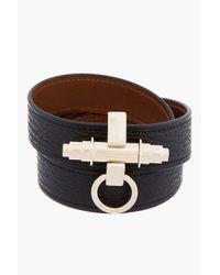 Givenchy - Black Shark Skin Triple_wrap Obsedia Bracelet - Lyst
