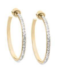 Michael Kors - Metallic Goldtone Swarovski Elements Hoop Earrings - Lyst