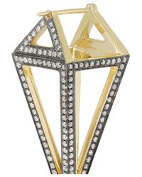 Noor Fares - Octahedron 18karat Blackened Gold Diamond Earrings - Lyst