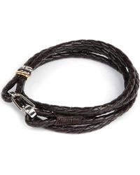 Paul Smith | Brown Leather Wrap Bracelet for Men | Lyst