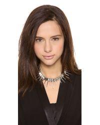 Rebecca Minkoff - Metallic Spike Collar Necklace - Lyst