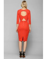 Urban Outfitters | Silence Noise Kaige Textured Bodycon Midi Dress | Lyst