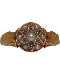 Annina Vogel | Metallic 15ct Gold Diamond and Pearl Star Victorian Ring | Lyst