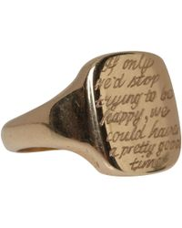 Annina Vogel - Metallic Antique 9ct Gold Engraved Edith Wharton Signet Ring - Lyst